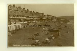 h0352 - Sandown Beach from the pier , Isle of Wight - postcard