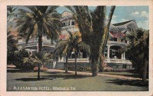 Pleasanton Hotel, Honolulu, Hawaii Territory, Early Postcard, Unused
