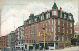 Royal Hotel at St John NB, New Brunswick, Canada - pm 1909 - DB