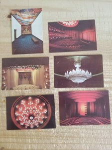 JOHN F KENNEDY CENTER FOR THE PERFORMING ARTS.6 INTERIOR POSTCARDS*P14