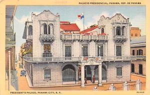 Panama Old Vintage Antique Post Card President's Palace Panama City Unused
