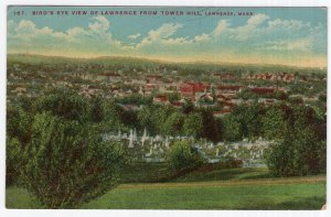 Lawrence, Mass, Bird's Eye View Of Lawrence From Tower Hill