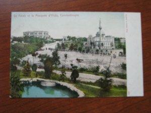 Turkey Postcard 1900-06 UDB Unused Constantinople Mosque Yildiz