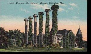 Missouri Columbia University Of Missouri Historic Columns