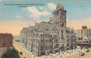 Boys' Central High School, Broad and Green Streets, Philadelphia, Pennsylvani...