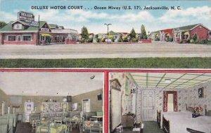 North Carolina Jacksonville Deluxe Motor Court Albertype