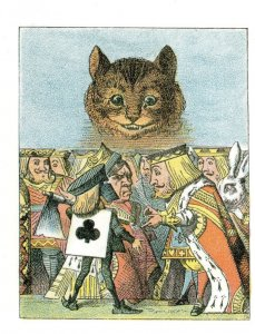 Cheshire Cat Alice in Wonderland Little Folks 1907 Book Postcard