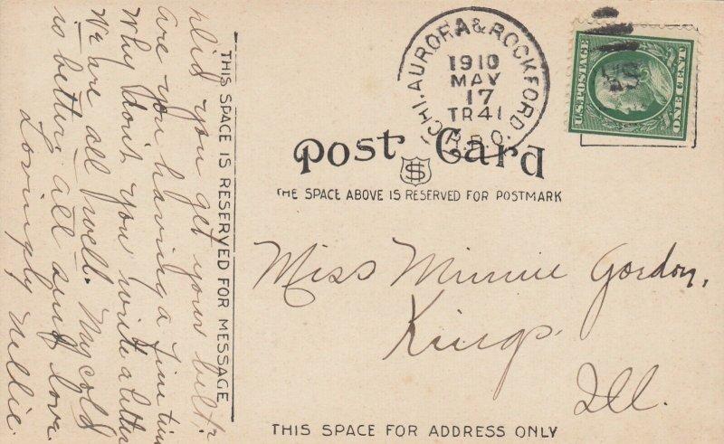 AURORA , Illinois, 1910 ; Park from Coaster