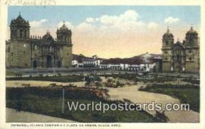 Cuzco, Peru Catedral, Iglesia Compania y Plaza de Armas  Catedral, Iglesia Co...