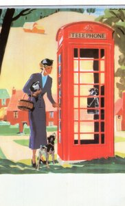 1936 Jubilee Kiosk Phone Box Introduction British Telecom Postcard