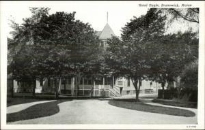 Brunswick ME Hotel Eagle c1930s Postcard