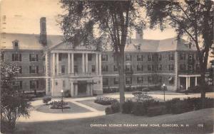 Concord New Hampshire~Christian Science Pleasant View Home~1947 B&W Postcard