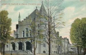 Toledo OH~St Paul's United Methodist Episcopal Church~c1910~Postcard