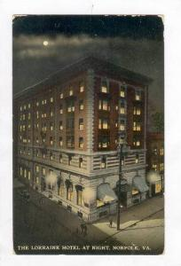 The Lorraine Hotel At Night,Norfolk,Virginia,PU-1912