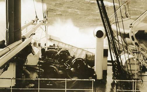 On the High Seas - Foredeck - RPPC