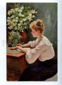 224703 RUSSIA Luban STEMBER Letter #33 vintage postcard