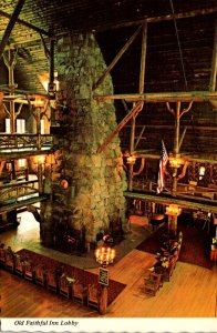 Wyoming Yelowstone National Park Old Faithful Inn Lobby