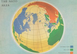Nato Area From Members in 1960 Pamphlet Map Postcard