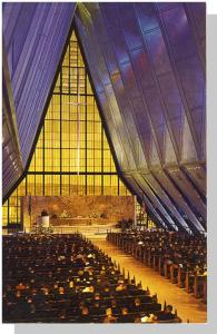 Colorado Springs,CO Postcard,Air Force Academy Chapel/Inside