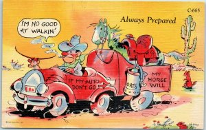 RAY WALTERS Artist-Signed Postcard Always Prepared Curteich Linen #C-665 1940s