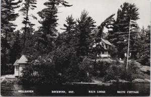 Rockwynn Ontario ON Wellhaven Main Lodge Magnetawan Real Photo Postcard E33