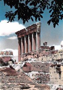 Les six Colonnes Du Temple de Jupiter Baalbek, Lebanon , Carte Postale Unused