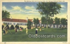 Linen, Hot Springs Golf Course , Hot Springs National Linen, Park, AR USA Gol...
