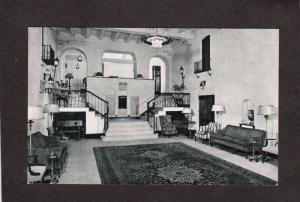 DC New Colonial Hotel Washington Ashtrays Stairways Interior View Postcard