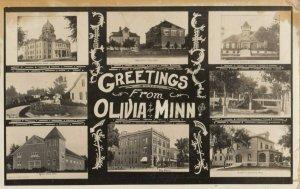 RP: OLIVIA , Minnesota , 1909 ; 8 View Postcard