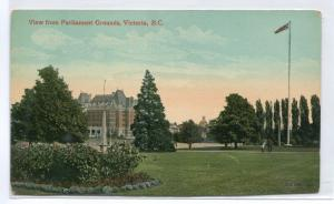 Parliament Grounds Victoria British Columbia Canada 1910c postcard