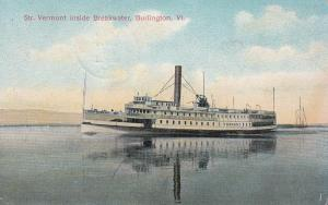 BURLINGTON, Vermont, 1909 ; Str. VERMONT inside Breakwater
