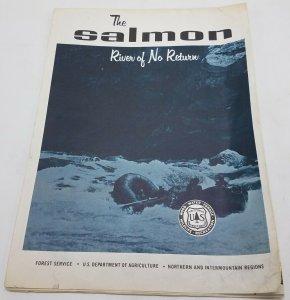 Vtg Circa 1970 The Salmon, River of No Return USDA Forest Service Map