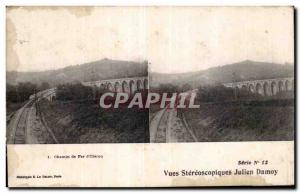 Old Postcard Views stereoscopic Julien Damoy Railway d Oleron