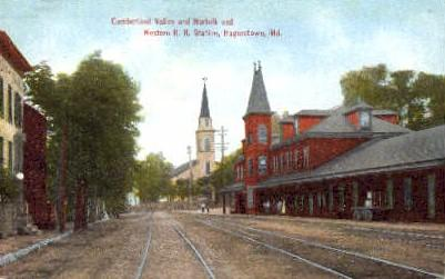 Norfolk and Western R.R. Station, Hagerstown, Maryland, MD, USA, Railroad Tra...