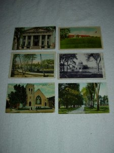 Schenectady NY - Lot Of 6 Great Vintage Postcards - x0600