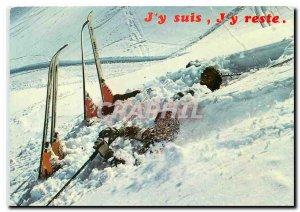 Modern Postcard I'm still skiing J'Y