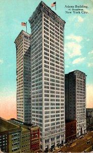 New York City Adams Building Curteich