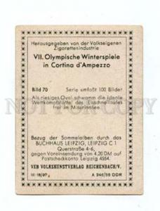 166976 VII Olympic speedskaters CIGARETTE card
