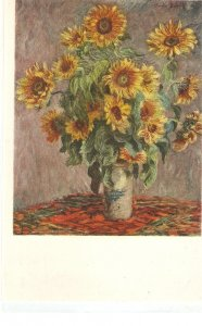 Monet. Sun Flowers. Sonnenblumen Fine painting nice Austrisn PC