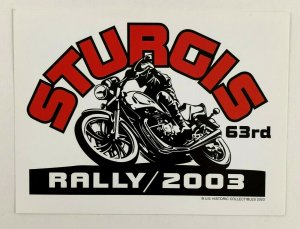 2003 Sturgis 63rd Rally Promo Postcard Motorcyle South Dakota Black Hills Cycle