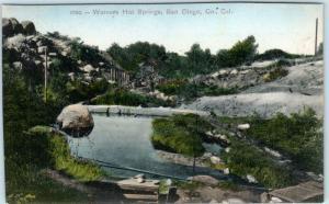 WARNERS HOT SPRINGS, California CA  HANDCOLORED  San Diego County 1910s Postcard