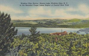 Watkins Glen Harbor Seneca Lake Watkins Glen New York Curteich