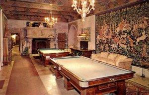 CA - San Simeon. Hearst Estate, Billiard Room