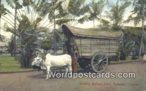 Ceylon, Ceylan, Sri Lanka Colombo Double Bullock Cart