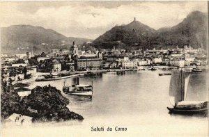 CPA Saluti da Como . ITALY (498630)