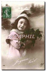 Old Postcard Fantasy Fantasy Child Child Merry Christmas