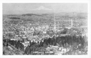 Portland Oregon Birdseye View Of City Real Photo Antique Postcard K93031
