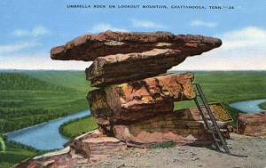 TN - Chattanooga, Umbrella Rock on Lookout Mountain