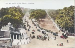 Rotten Row, Hyde Park, London, England, early postcard, unused