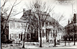 1940s New Castle Delaware Court House East Wing Postcard DO